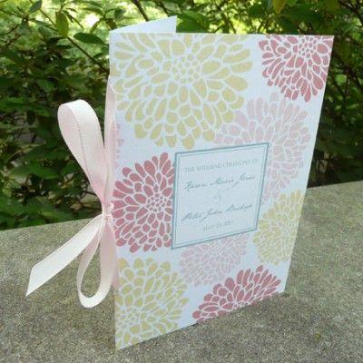 wedding program booklet templates