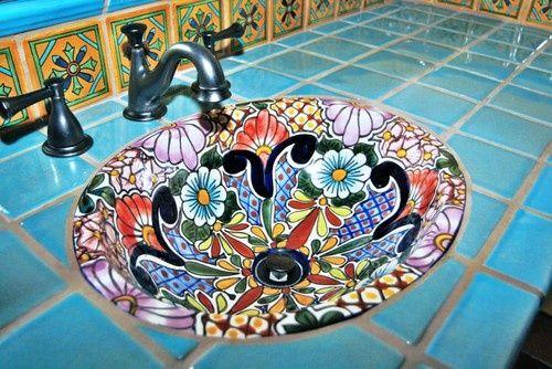 Talavera Bathroom Sink.
