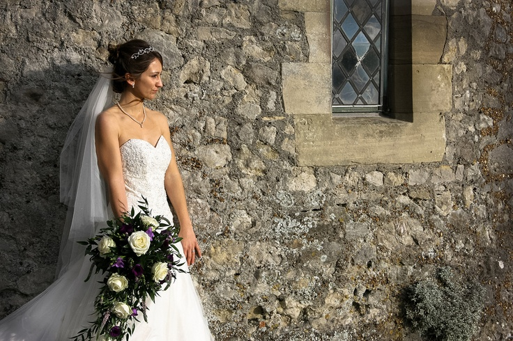 Bride at Lympne Castle in Kent. Photography www.davidblackshaw.com