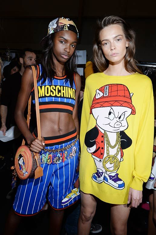 Moschino Fall/Winter 2015/16 backstage - See more on www.moschino.com: