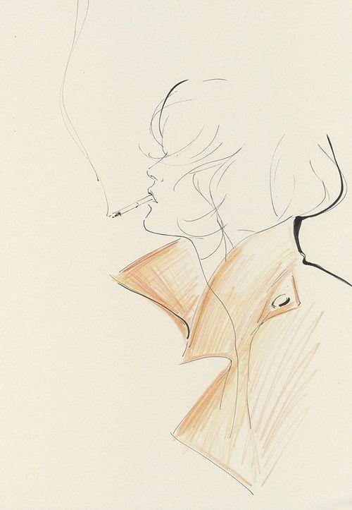 Yoco Nagamiya - illustrated favourite things 'Trench Coat'