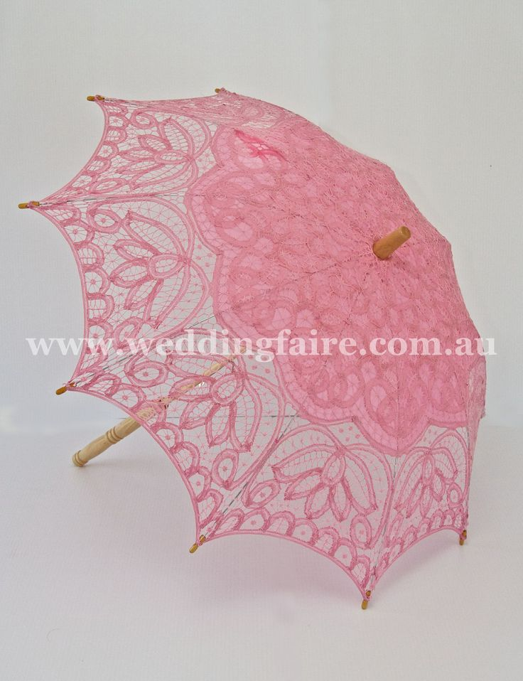 Childs Classic Lace Parasol - Pink - The Wedding Faire