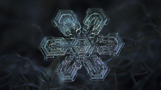 Snowflake HD wallpaper: Shine
