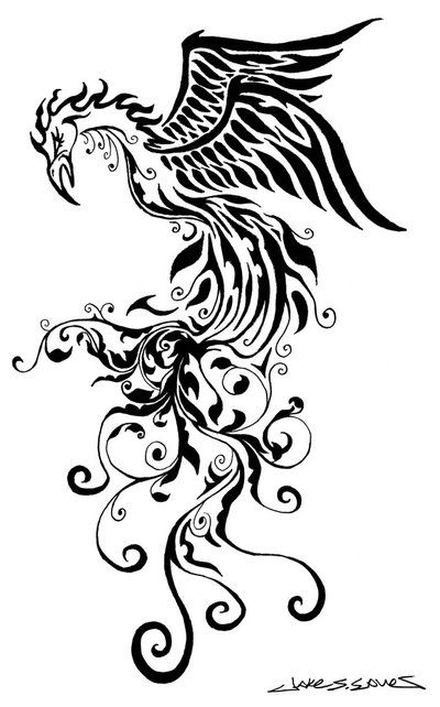 Tribal Phoenix Tattoo Design Picture 2