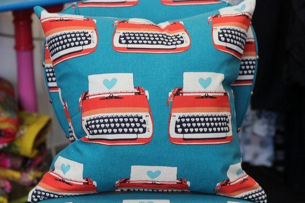 Typewriters Cushon Cover - 40cm x 40cm