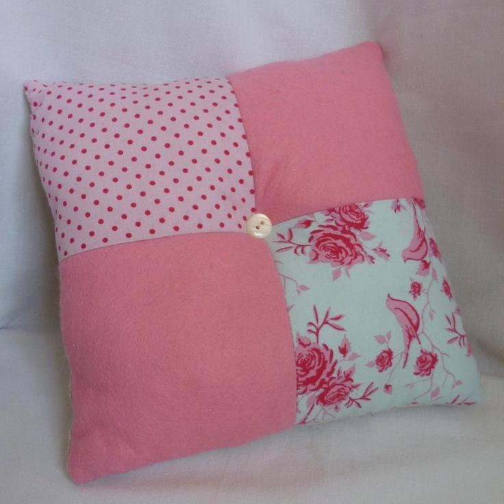 Pretty Pink Patchwork Mini Cushion