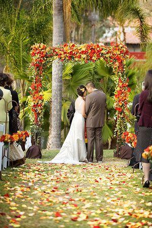 beautiful outdoor fall wedding