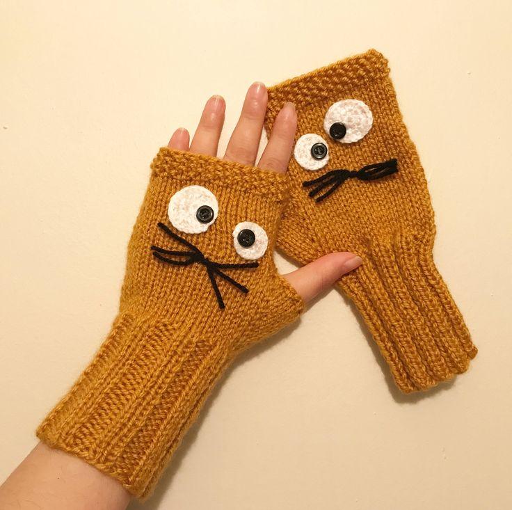 Fingerless Gloves, Grey, Knit Fingerless gloves, Arm warmers, Cookie Monster, Mittens, Winter gloves, Sesame Street, Boho Gloves by BosphorusBeads on Etsy