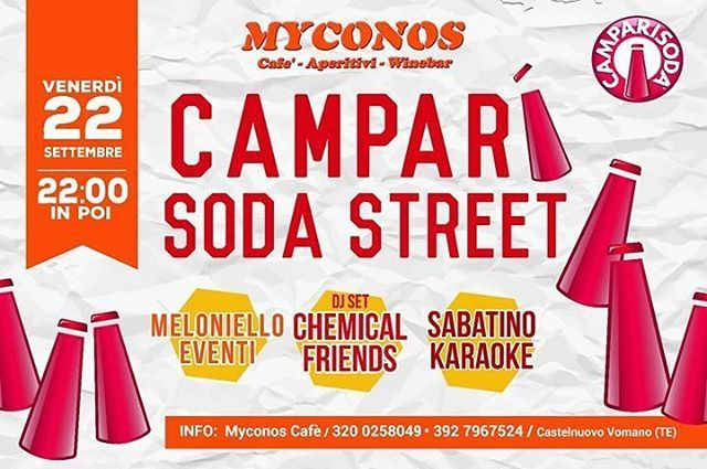 MYCONOS CAFE' - Castelnuovo Vomano | Eventi Teramo⠀ #eventiteramo #eventabruzzo #amazing #art #awesome #baby #beach #beautiful…