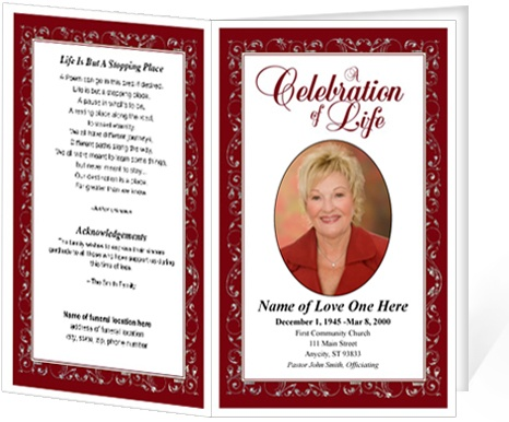 214 best Creative Memorials with Funeral Program Templates images - funeral announcement template free