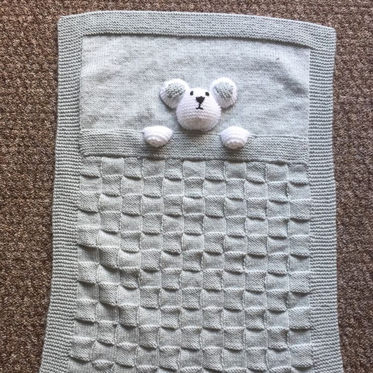This cute pram blanket can now be ordered in this soft shade of grey as well as blue, pink and lemon.