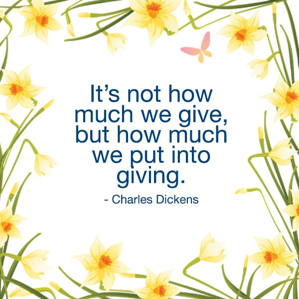 Thank you for all of your amazing support! #donate #charlesdickens #giving #charity #quote #goodcause #cancercouncil