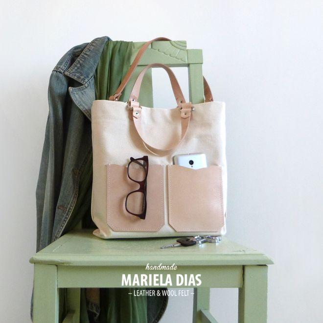 pineapple bag · leather & cotton http://marieladias.tictail.com
