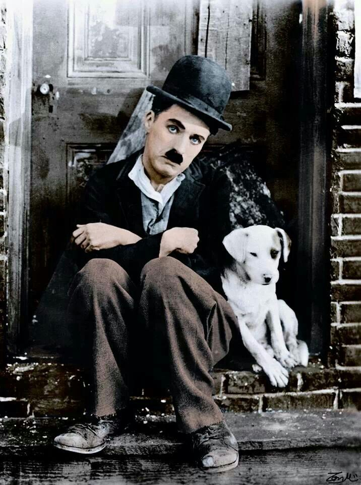 Charlie Chaplin in colour