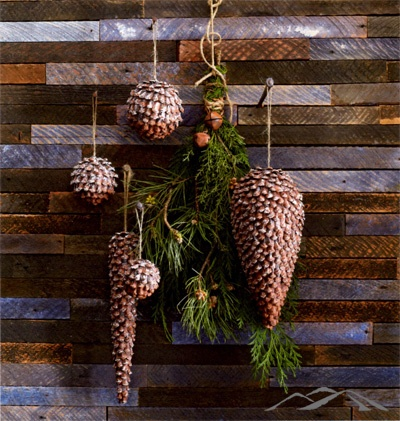 Pinecone Ornament. Tiny frosted petals from genuine pine cones are used to create these spheres and elongated cone ornaments. Finished with natural jute loop. Rustic Christmas Ornament. Natural Christmas. Country Christmas. Simple Christmas. Mountain Christmas.