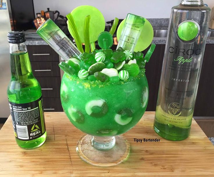 Apple Ciroc Candy Bowl 3 Oz 90ml Ciroc Apple 1 Oz 30ml