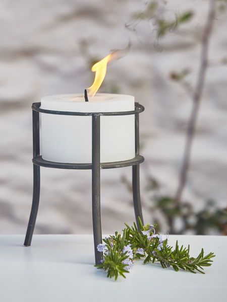 Rustic Outdoor Candle Holder #nordichouse #outdoor #candlelight