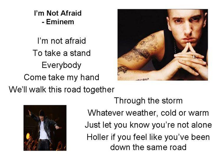 Eminem lyrics not afraid