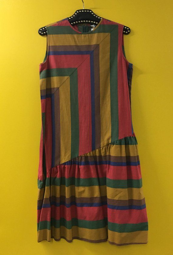 Striped Drop Waist Dress Striped Vertical Stripes Pattern Print Design Textiles Horizontal Str Dropwaist Dress Print Design Pattern Striped Dress
