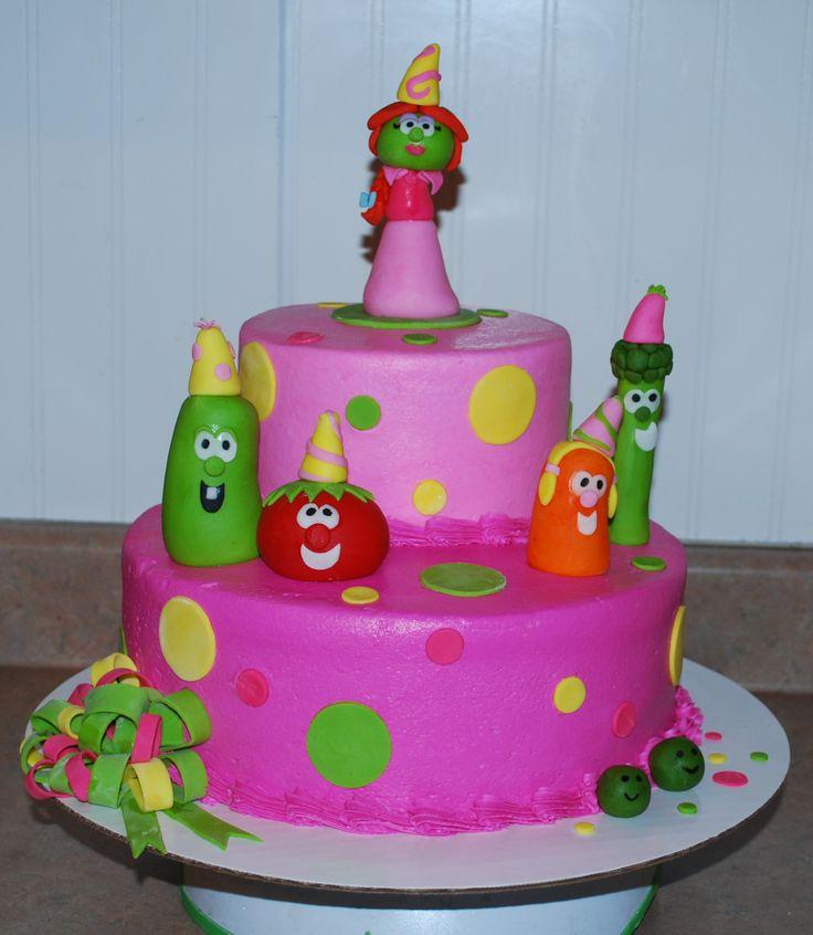 Veggie Tales Cake  ~ NutMeg Confections