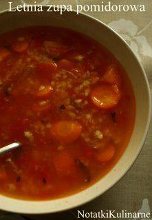 Letnia zupa pomidorowa