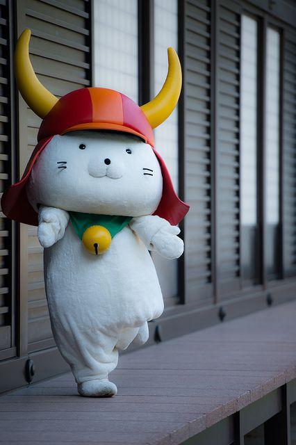 Hikonyan, the samurai cat mascot of Hikone Castle.