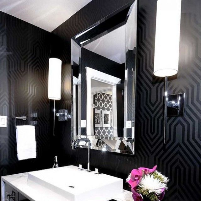 Trending on Tumblr:  this powder room by Atmosphere Interior Design Inc. on houzz features our Reflection Wall Mirror.  Follow us on Tumblr at zgallerie.tumblr.com for more inspiration. #Padgram