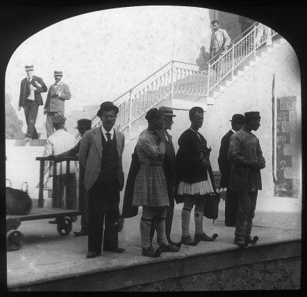 Athens, train station Magic Lantern Slide