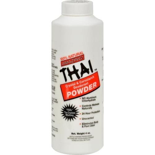 Thai Deodorant Stone Crystal And Corn Starch Deodorant Body Powder - 3 Oz - 0658211