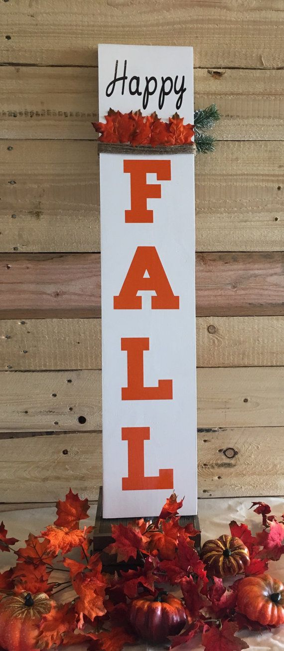 Reversible porch signs hello fall porch sign Merry by MZMDesigns
