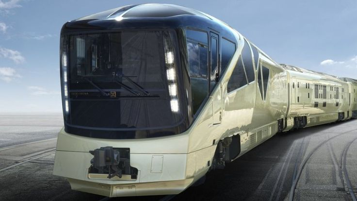 Japan's ultra-luxurious train hits the tracks for its maiden journey - BBC News