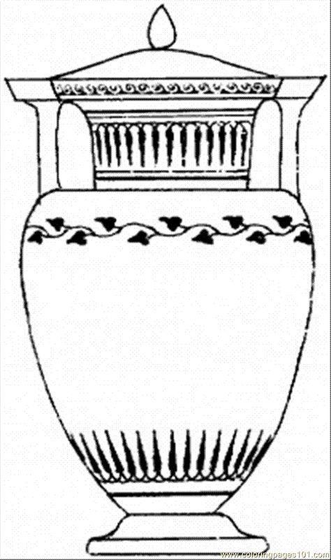 Ancient Greek Vase Template Google Antik Pinterest