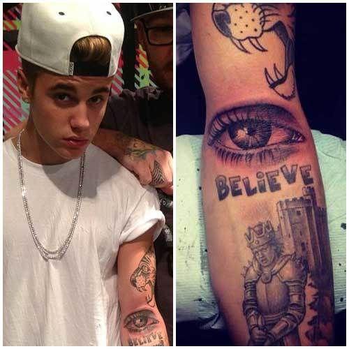 Justin Bieber all seeing eye tattoo