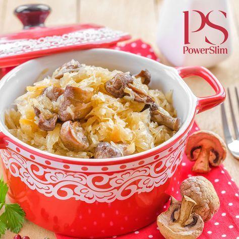 Zuurkoolschotel met bloemkoolpuree en champignons   Koolhydraatarme recepten PowerSlim fase 2a