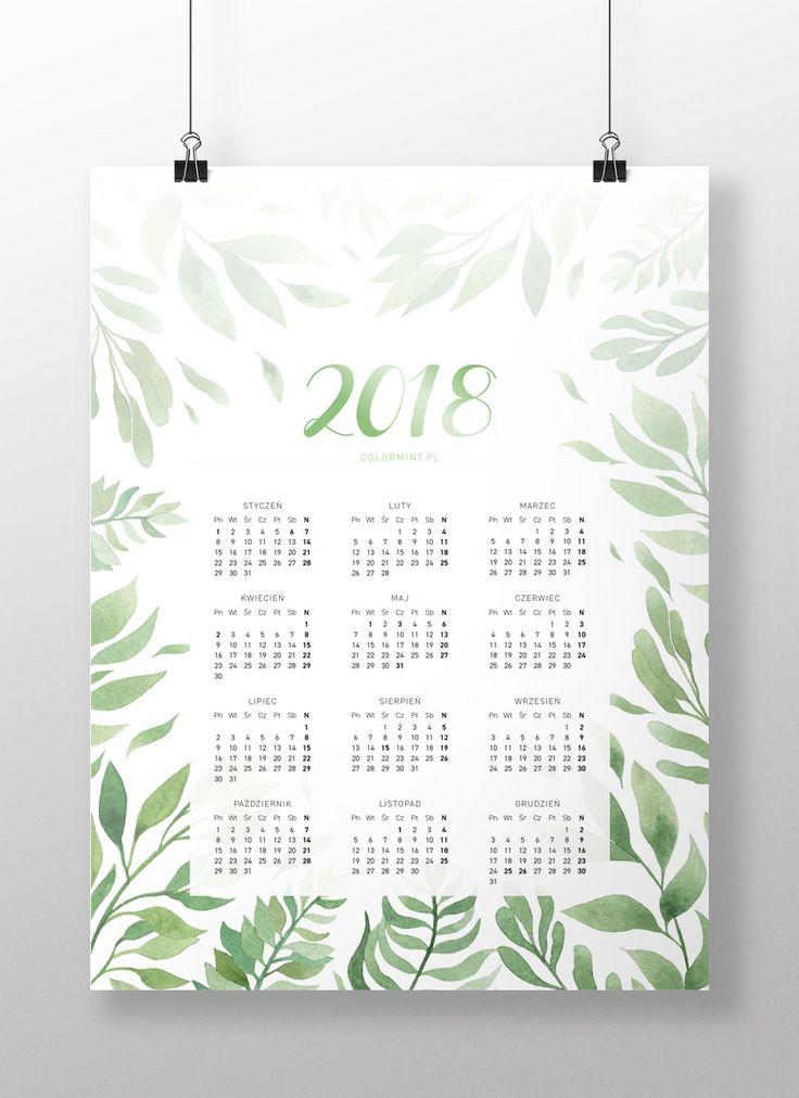 Plakat: Kalendarz 2018 v.2