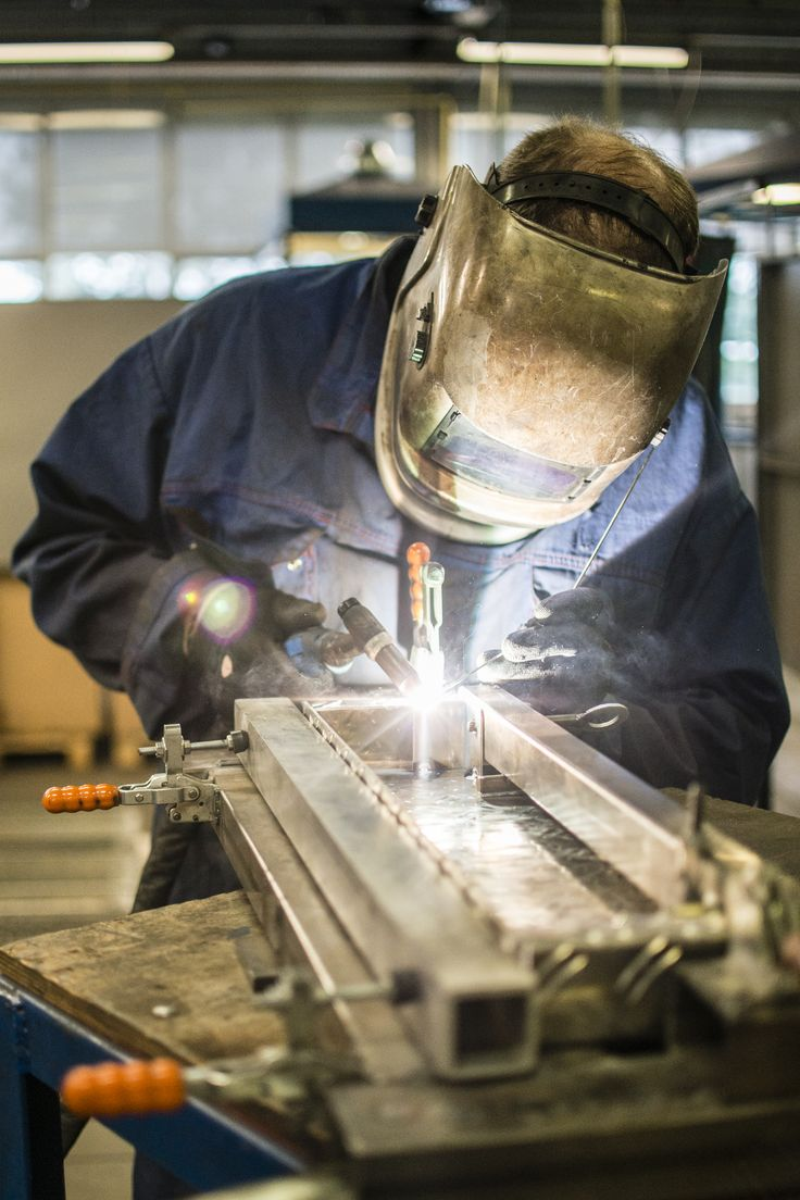 Welder in a steelfactory  Photography: Jeanine Polderdijk for ComMediArt