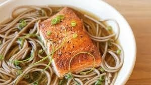 Salmon and whole wheat pasta. SO good and healthy.