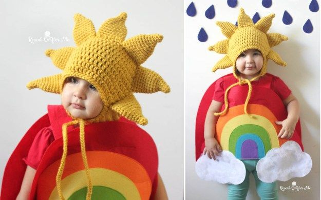 Crochet Sun Hat Pattern and Rainbow Costume - Repeat Crafter Me
