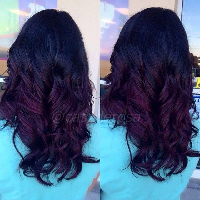 black violet ombre hair - photo #6