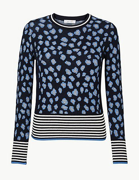 74bc086fa87a Animal Print Round Neck Jumper in 2019   Things that would look nice ...