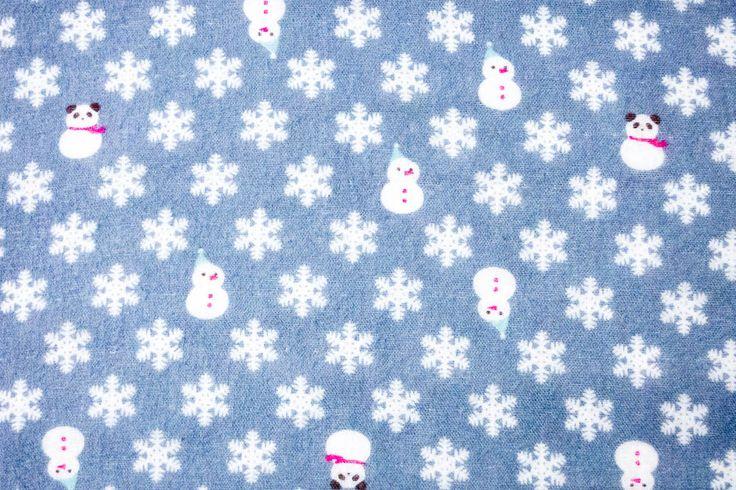 Stoff von Cosmo: Schneemänner auf Flanell