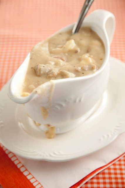 Paula Deen Giblet Gravy - very close to my family's recipe. (exclude the dressing)