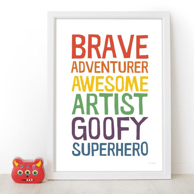 Art print by Lucky 5 Personalise a print for your munchkins from the 'Who Are You' range by Lucky 5   prints and posters for the whole family