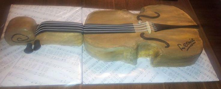 Birthday cake, Violin, 3D, Verjaardagstaart, viool