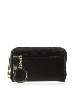 50% OFF Tusk Women's Montparnasse Zip Coin/Card/Key Wallet (Black)