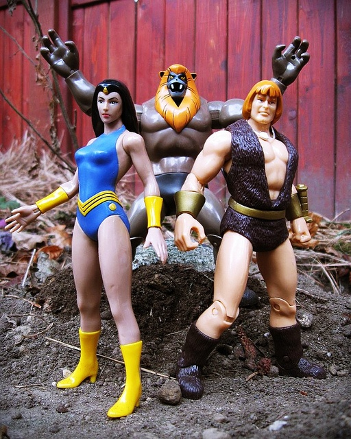 Thundarr the Barbarian, Princess Ariel, and Ookla the Mok