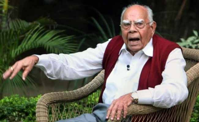 Ram Jethmalani To Fight Legal Battle On One Rank One Pension