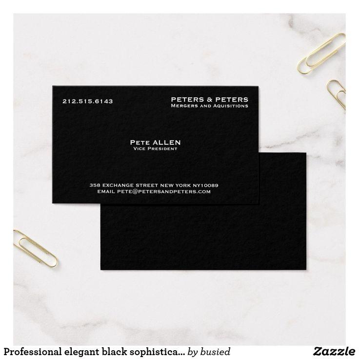 elegant black luxury business card