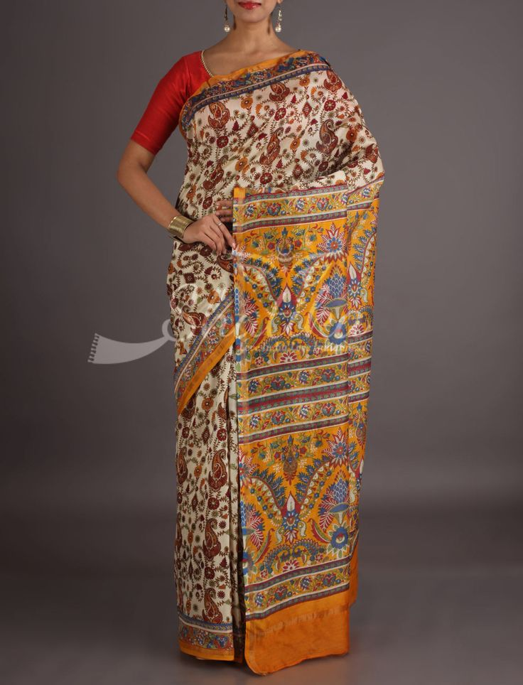 Parineeti Bel Bloom All Over With Contrast Pallu Bagh Print Saree