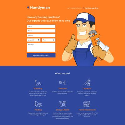 Home Repairs Responsive Landing Page Theme